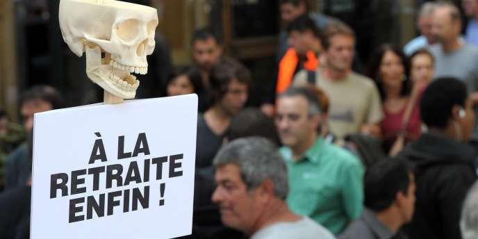 Manifestation contre la réforme des retraites à Paris, le 7 septembre.