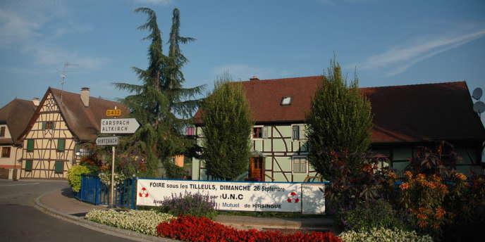 Hirsingue, ville d'Alsace où les habitants ont voté pour Nicolas Sarkozy à plus de 68 % en 2007.