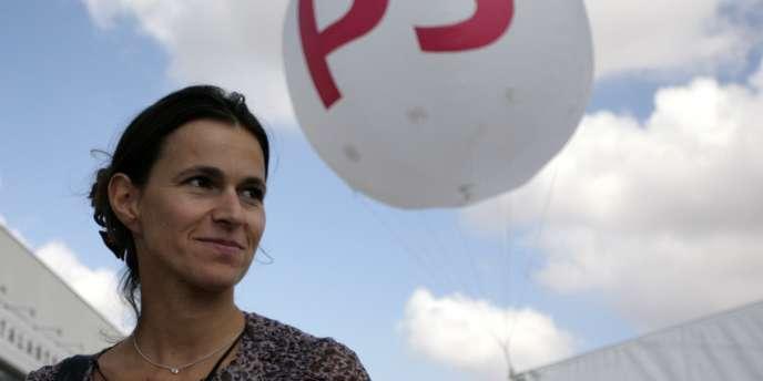 La députée Aurélie Filippetti, à l'université d'été du PS à La Rochelle en 2010.