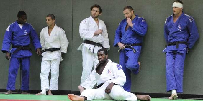 Les judokas français à l'entraînement, le 9 septembre, à Tokyo