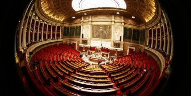 Hémicycle de l'Assemblée nationale, à Paris, en mars 2009.