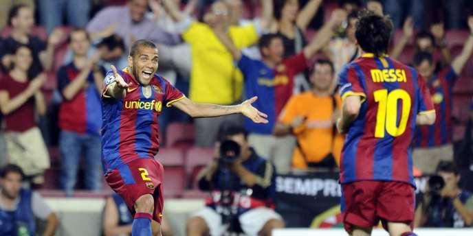 Dani Alves et les Barcelonais se sont bien amusés contre le Panathinaïkos, mardi au Camp Nou.
