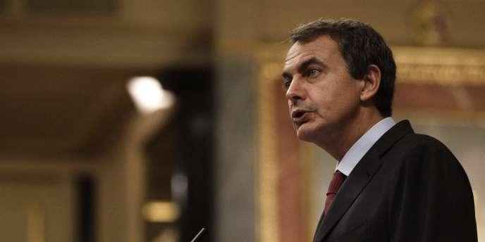 Jose Luis Zapatero s'exprimait devant le Parlement espagnol lors d'un débat consacré à l'engagement des troupes espagnoles en Afghanistan.