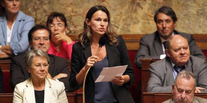 La députée socialiste Aurélie Filippetti à l'Assemblée nationale, le 14 septembre 2010.