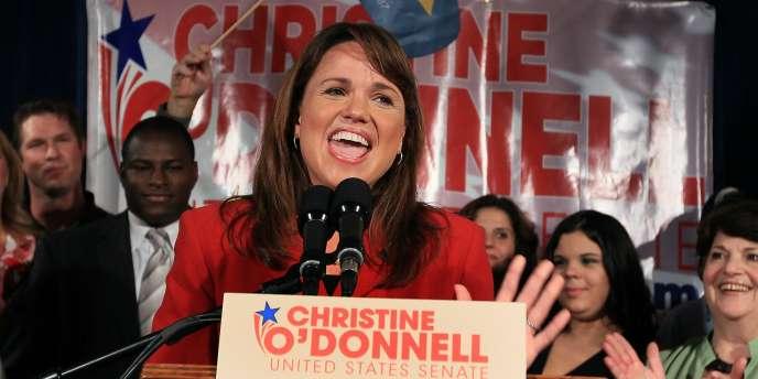 La candidate du Tea Party aux sénatoriales américaines du 6 novembre, Christine O'Donnell.