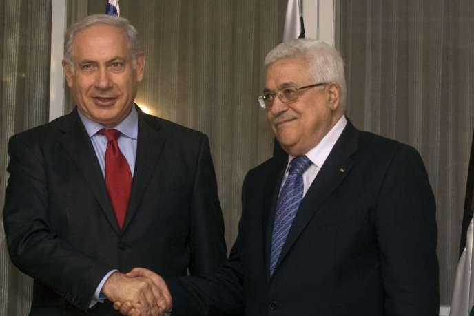 Benyamin Nétanyahou et Mahmoud Abbas le 15 septembre 2010.