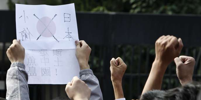 Manifestation antijaponaise à Pékin, le 18 septembre.