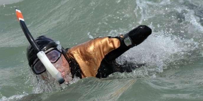 Philippe Croizon s'est entraîné pendant deux ans avant de tenter la traversée de la Manche.