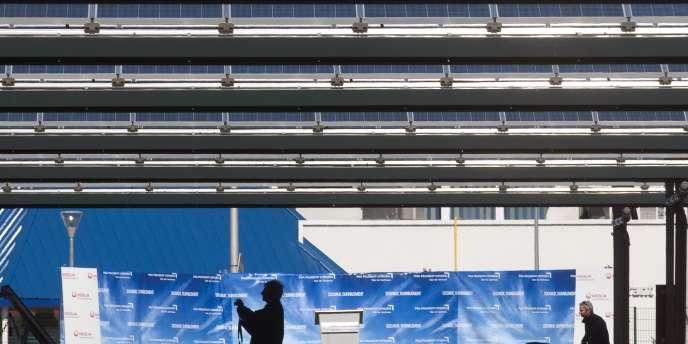 La centrale photovoltaïque de l'usine PSA à Sochaux.