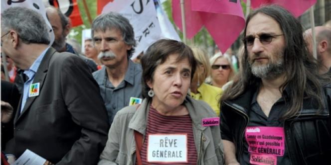 Annick Coupé, porte-parole de l'Union syndicale Solidaires, le 1er mai 2009.