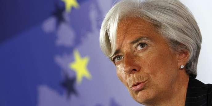 Christine Lagarde, ici le 7 septembre à Bruxelles, table sur une croissance annuelle du PIB de 1,6 % en 2010.