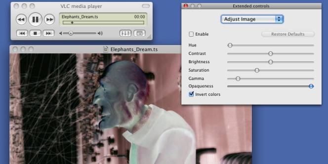 Le lecteur VLC, sur un Mac.
