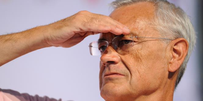 Le président de l'Observatoire de la laïcité, Jean-Louis Bianco, à La Rochelle, le 27 août 2010.