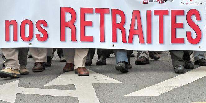 Dans la manifestation contre la réforme des retraites à Lille, le 23 septembre 2010.