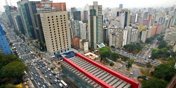 L'avenue Paulista à Sao Paulo constitue le cœur financier de la ville.