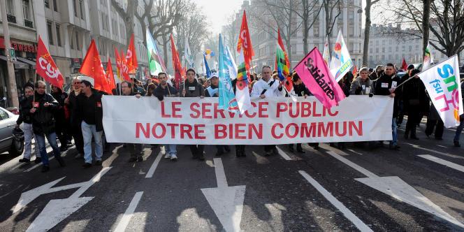 A Lyon, lors d'une journée de mobilisation de la fonction publique en 2010.