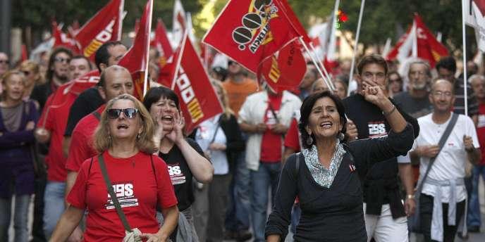 L'ampleur du chômage a entraîné plusieurs grèves générales en Espagne.