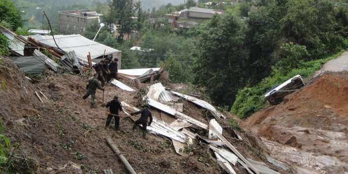 Au Mexique, les glissements de terrain sont fréquents, comme ici en 2010.