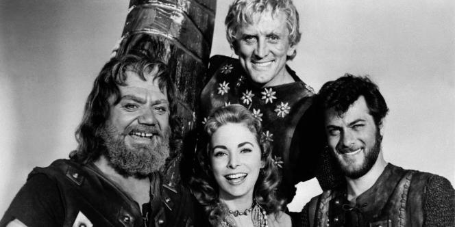 Ernest Borgnine, Janet Leigh, Tony Curtis et Kirk Douglas dans