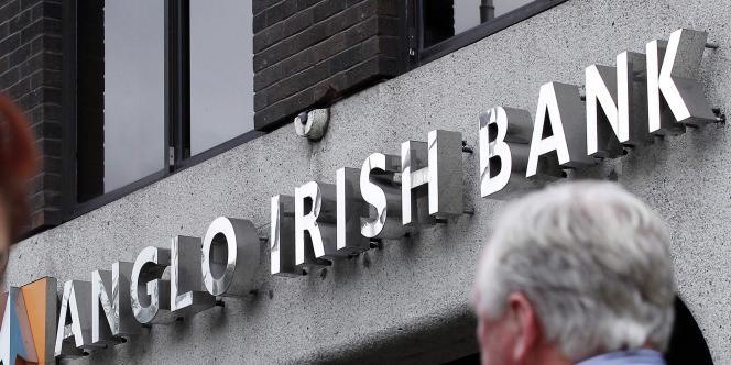 Le logo de l'Anglo Irish Bank en septembre 2010.