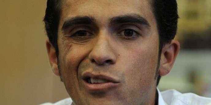 Alberto Contador lors de sa conférence de presse du 30 septembre.