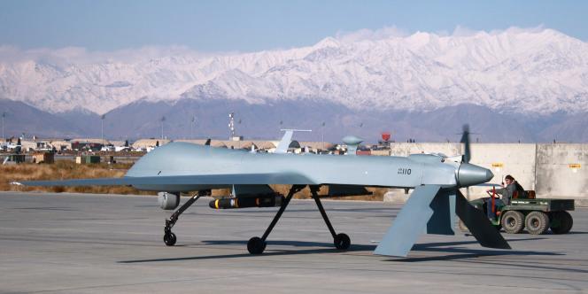 Un drone Predator de l'armée américaine sur la base de Bagram, en novembre 2009.