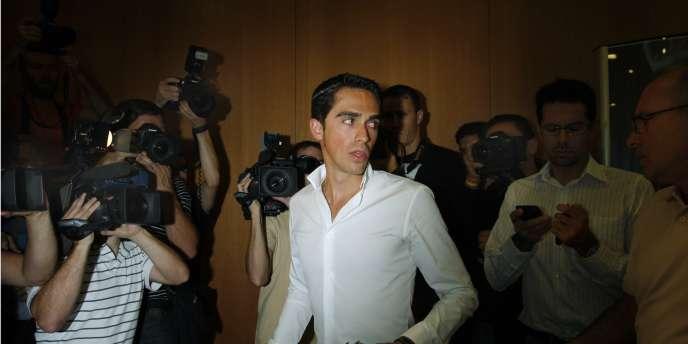 Alberto Contador, le 30 septembre à Madrid.