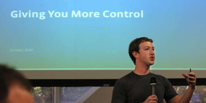Mark Zuckerberg, cofondateur et PDG de Facebook, le 6 octobre.