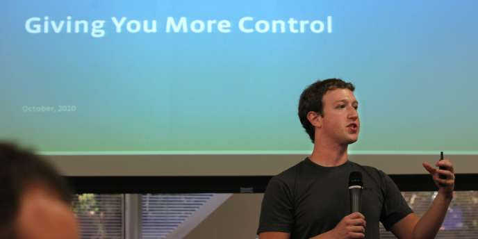 Mark Zuckerberg, cofondateur et PDG de Facebook, le 6 octobre 2010.
