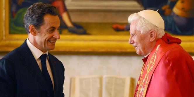 Le pape a accueilli le président de la République dans une audience privée au Vatican, le 8 octobre 2010.