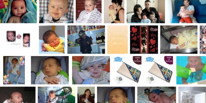 Des photos de bébés publiées sur Internet.