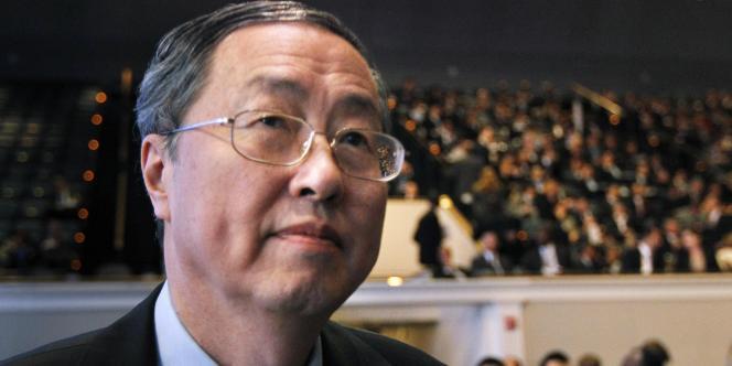 Le gouverneur de la banque centrale chinoise, Zhou Xiaochuan, lors d'une réunion du FMI, à Washington, le 8 octobre 2010.