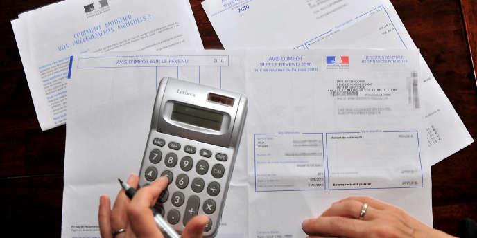Avis d'imposition sur le revenu.