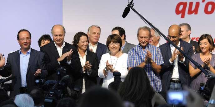 Les leaders du Parti socialiste réunis à La Rochelle en août.