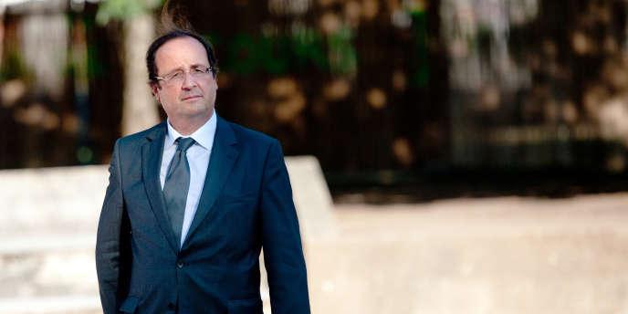 François Hollande à Brive-la-Gaillarde, le 23 juillet 2010.