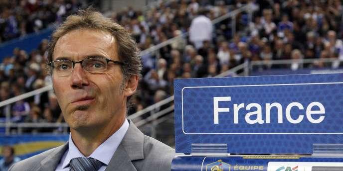 Laurent Blanc, le 9 octobre 2010 au Stade de France.
