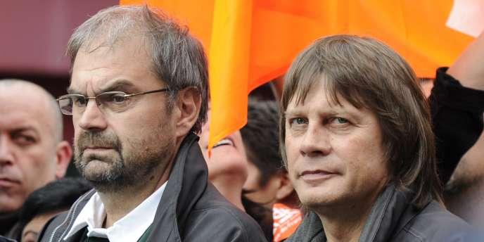 François Chérèque et Bernard Thibault en décembre 2010.