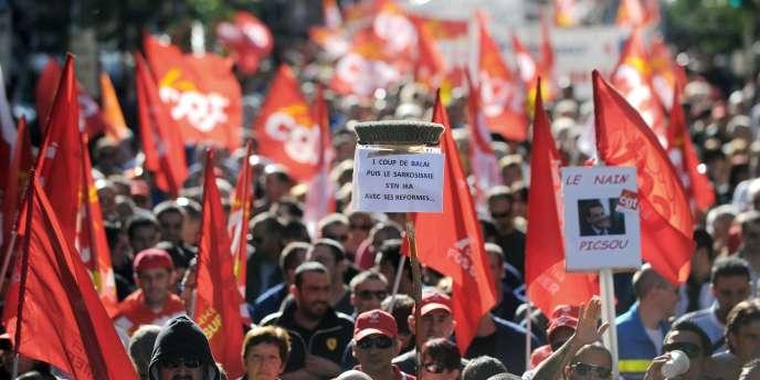 Manifestation à Marseille, mardi 12 octobre.