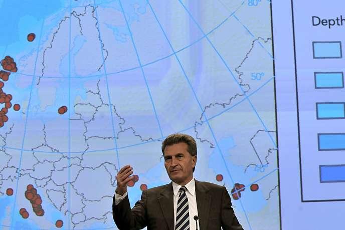 Le commissaire à l'énergie européen, Günther Oettinger.