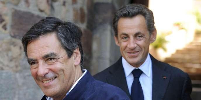 François Fillon et Nicolas Sarkozy, le 20 août 2010, au fort de Brégançon (Var).