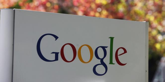 Le sigle de Google, au siège de la firme, à Mountain View (Californie).