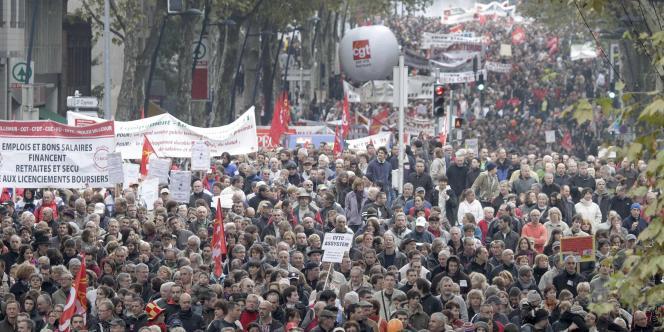 Manifestation contre la réforme des retraites, à Toulouse.