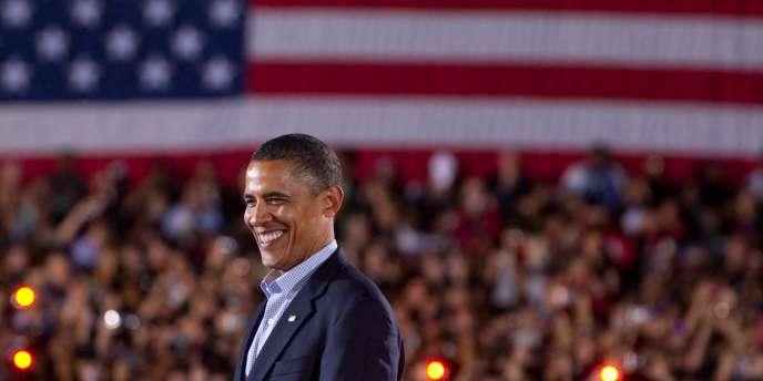Barack Obama lors d'un rassemblement démocrate à l'université d'Etat de l'Ohio, le 17 octobre 2010.