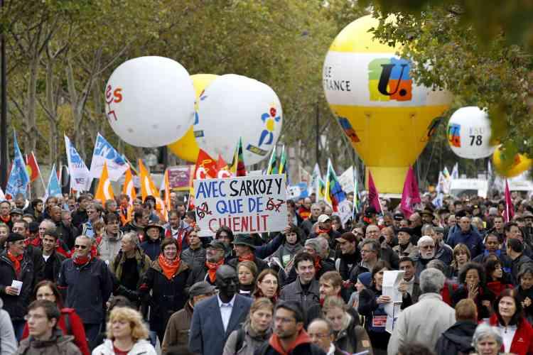 Manifestation à Paris, le 19 octobre 2010.