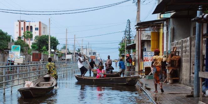 La ville de Cotonou, comme d'autres régions du Bénin, est frappée par les inondations depuis début octobre.