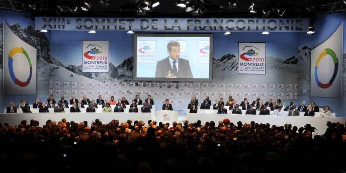 Au treizième sommet biennal de la Francophonie, à Montreux (Suisse), samedi 23 octobre.