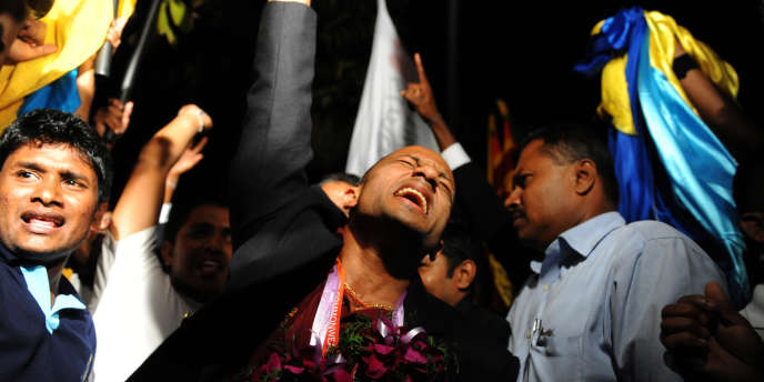 Après son retour de New Delhi, Manju Wanniarachchi avait été accueilli en héros à l'aéroport de Katunavaka, près de Colombo.