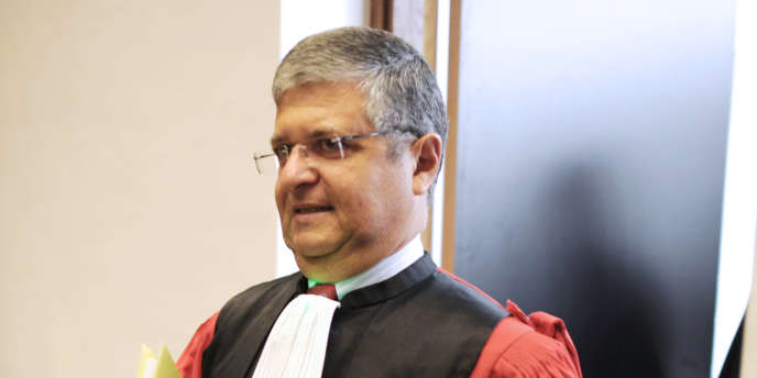 Le président du tribunal de grande instance de Nanterre, Jean-Michel Hayat, à Nanterre, le 2 septembre 2010.