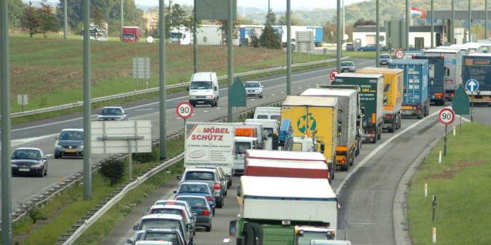 Autoroute de Belgique, en direction du Luxembourg.