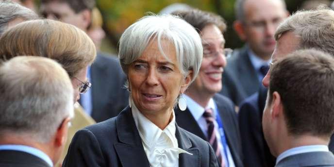 Christine Lagarde, lors d'une réunion des ministres de l'économie et des finances des pays membres du G20, vendredi 22 octobre à Gyeongju, en Corée du Sud.